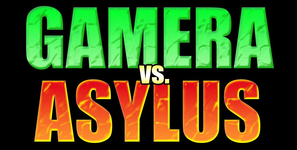 Gamera vs Asylus Logo by KingAsylus91