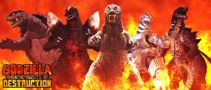 Godzilla and The Agents of DESTRUCTION - Poster V4