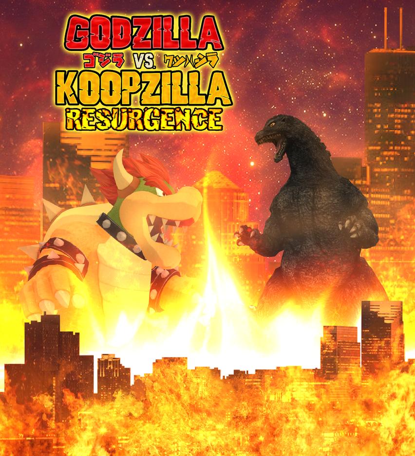 Godzilla vs. Koopzilla Resurgence  - Poster 01 by KingAsylus91