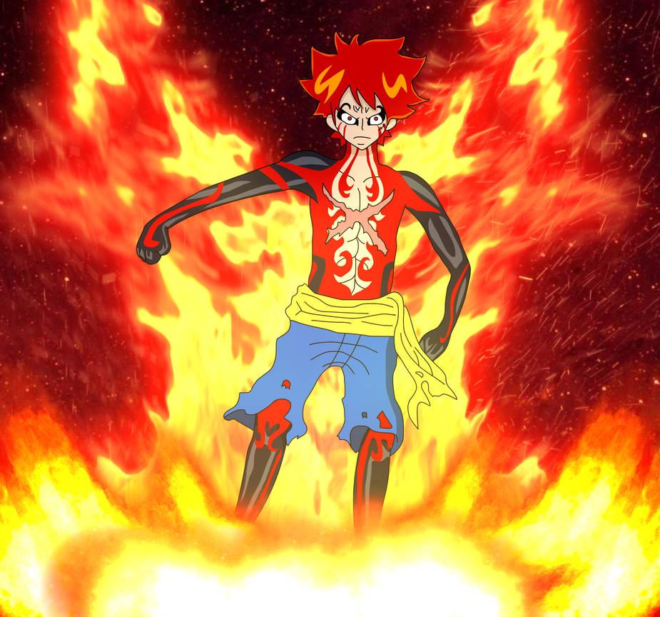 Luffy's Pirate God form AKA Gear 5th by AsylusGoji91 on DeviantArt