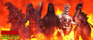 Godzilla and The Agents of DESTRUCTION - Poster V3