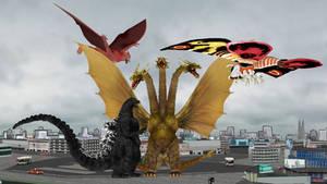 Ghidorah The Three-Headed Monster MMD Poster