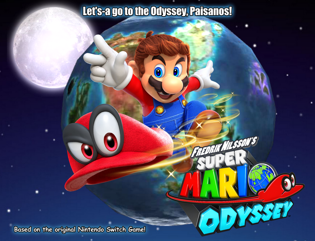 Super mario odyssey fanfic poster by asylusgoji91 on for Super mario odyssey paintings