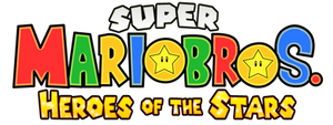 Super Mario Bros Heroes of the Stars Logo V3