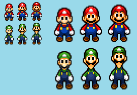 KvsG - Mario Bros Color Palette V2 by AsylusGoji91