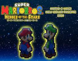 New SMBHotS Mario Bros Color Palette 2021 - Teaser