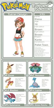 Trainer Profile - Elaine (AsylusGoji91's Ver)