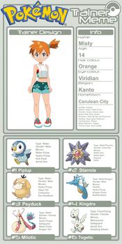 Trainer Profile - Misty (AsylusGoji91's Ver)