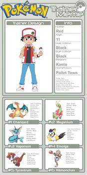 Trainer Profile - Red (AsylusGoji91's Ver)