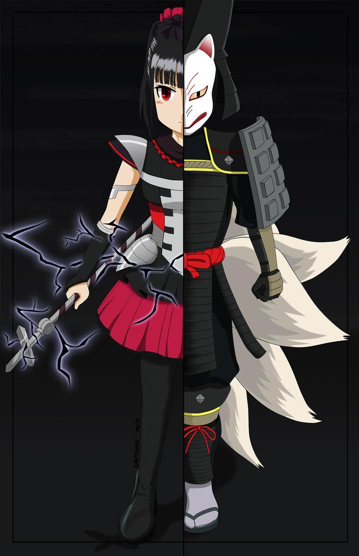 Su-Metal and Kitsune by santiaice