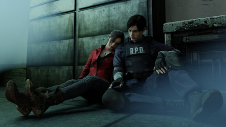A moment of safety (resident evil 2 remake) by NecroCainALX