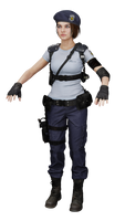 Jill Classic Stars Outfit [FBX/Blend]