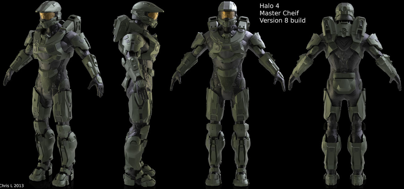 Halo 4 Master Cheif (collab) by Dutch02 ... & Halo 4 Master Cheif (collab) by Dutch02 on DeviantArt