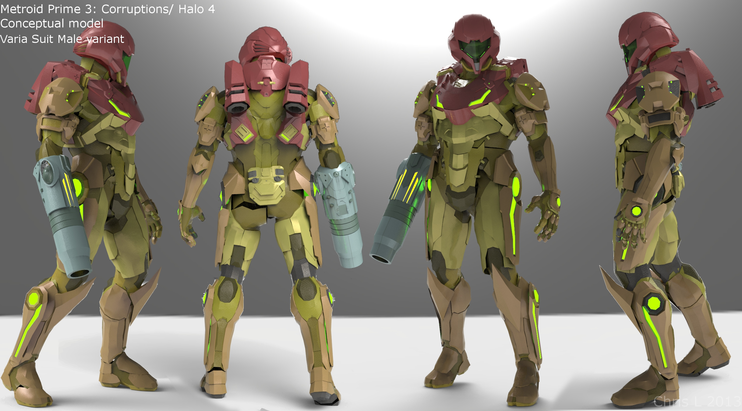 metroid prime 3 halo 4 male cross over suits
