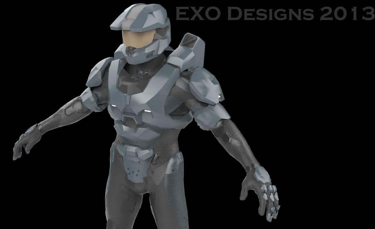 Halo 4 MK.6 armor (WIP) by Dutch02