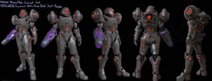 Halo/ Metroid Varia Dark suit