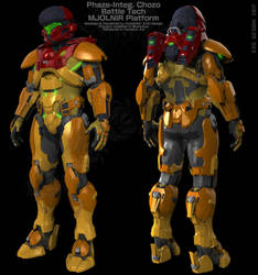 Spartan 4 MJOLNIR x Chozo Battle Tech by Dutch02