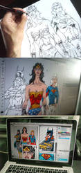 DC Girls Poster Making Off by narf84
