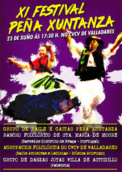 Pena Xuntanza Folk Dance Festival Poster by narf84