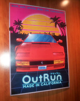 Outrun Poster Tribute