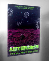 Asteroids Poster Tribute by narf84