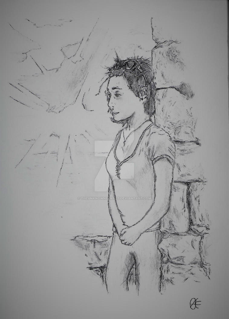 Girl Drawing 2. by TheUnknownPlanet