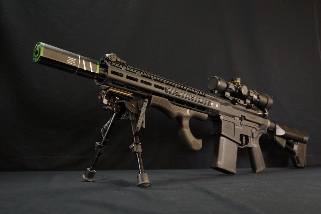 Fashion Defence custom MEGA AR-10 by Fashion-Defence