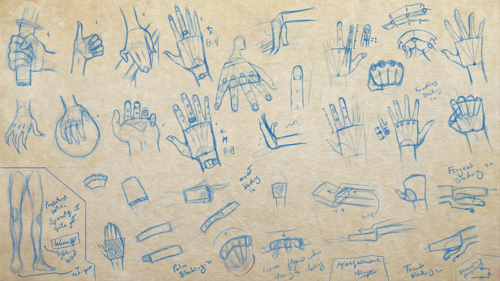 Hands Study, Artbuddy work #2 w/ Ravenwilder by aaqucnaona