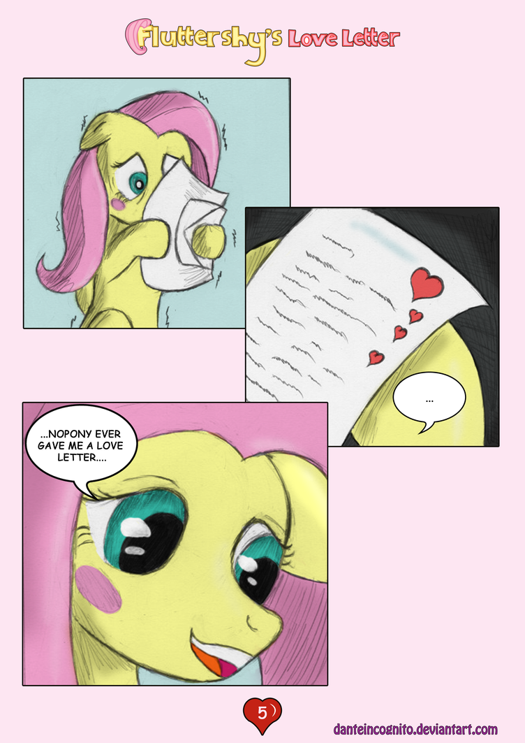 ''Fluttershy's Love Letter'' - Page 5 by DanteIncognito