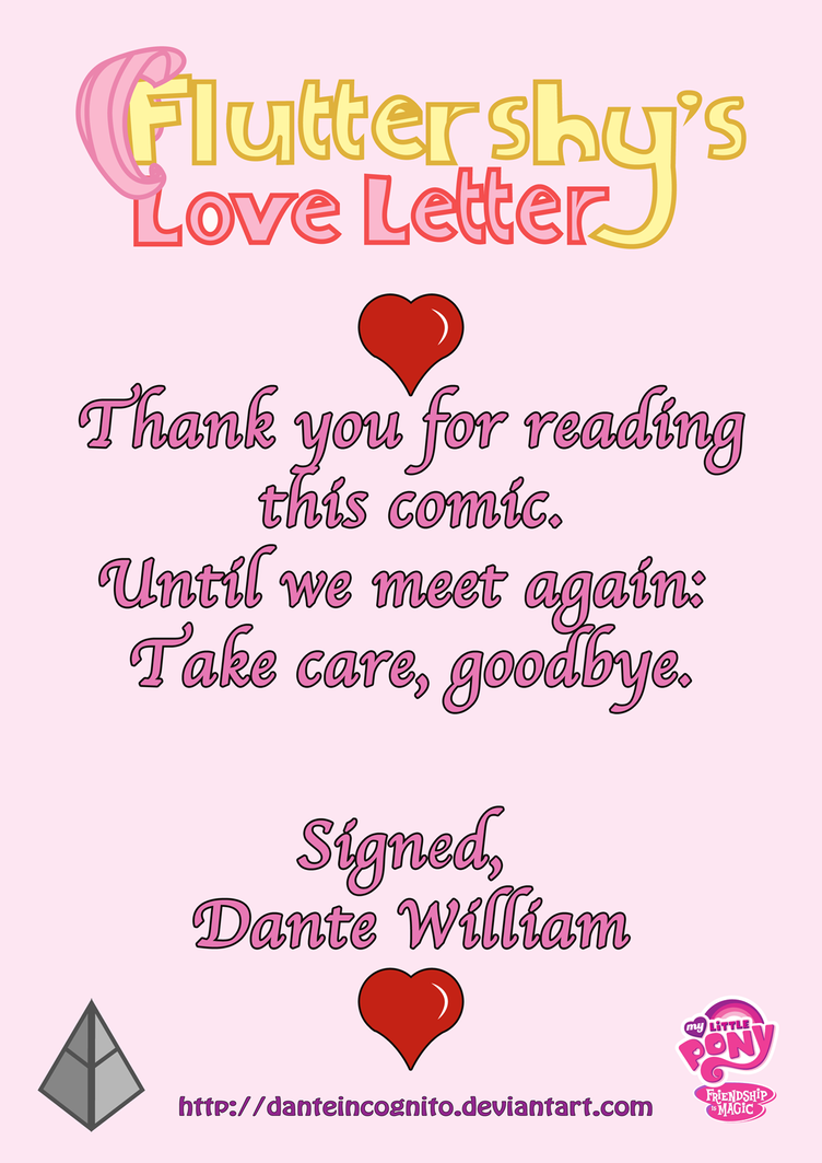 ''Fluttershy's Love Letter'' - Ending Page by ...