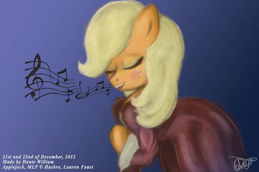 ''Four Art Days of Applejack'' - 03 - Singing
