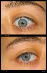 green eye - blue eye