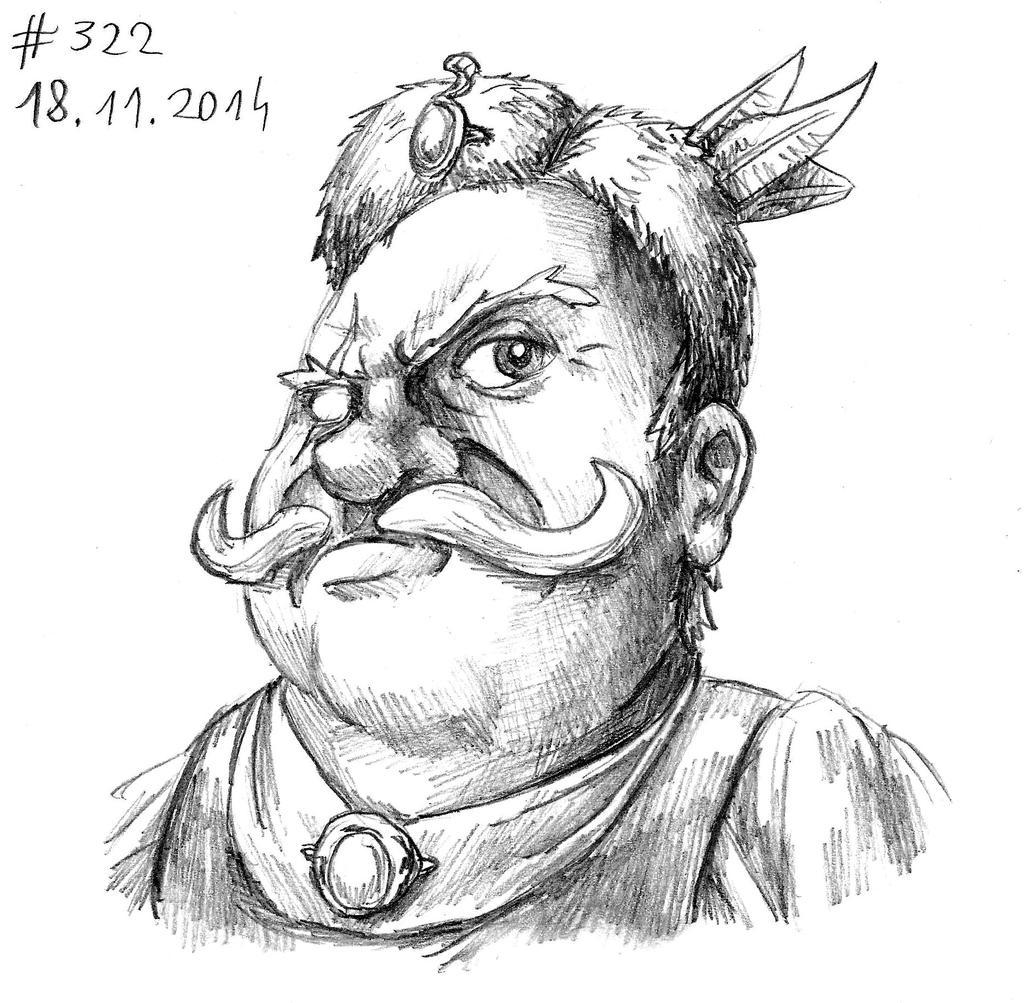 Onufry Zagloba (Thing a Day 2014 #322) by RedBlupi
