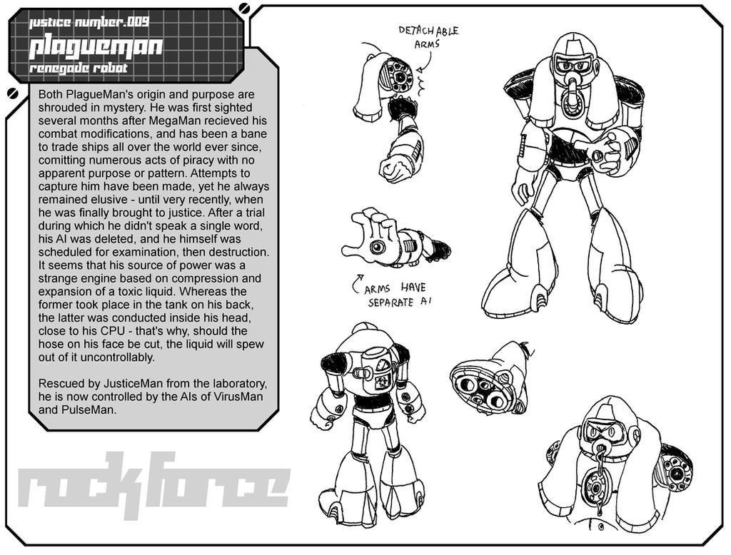 Character Files - PlagueMan (Rock Force) by RedBlupi