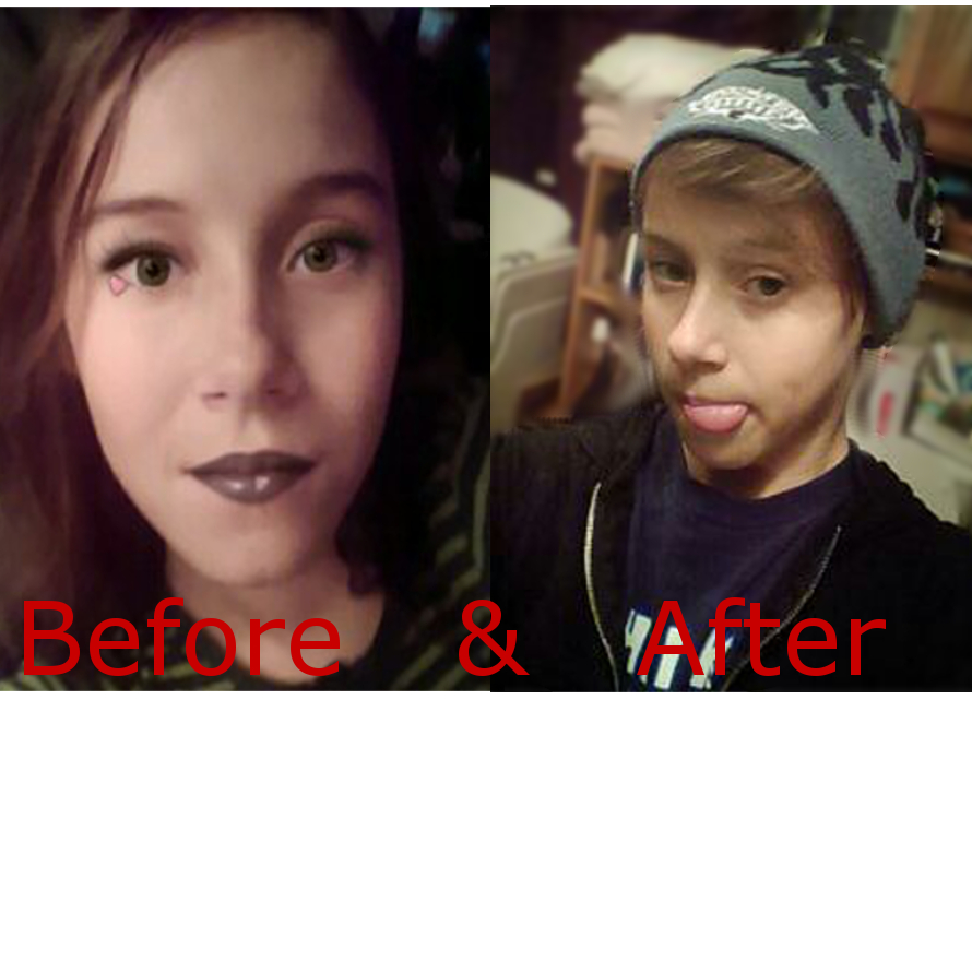 Before and After FTM (Female To Male.) by