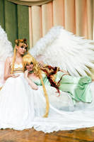 Queen Serenity and Galaxia by TashaTremer