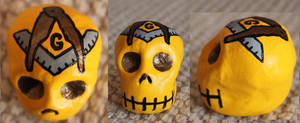 Masonic Sugar Skull 73 SOLD