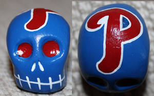 Commissioned Phillies Skull 47 by angelacapel