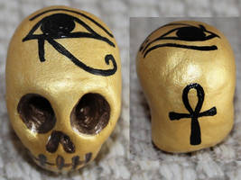 Egyptian Skull 32 by angelacapel