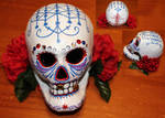 Paper Mache Voodoo Skull 2 by angelacapel