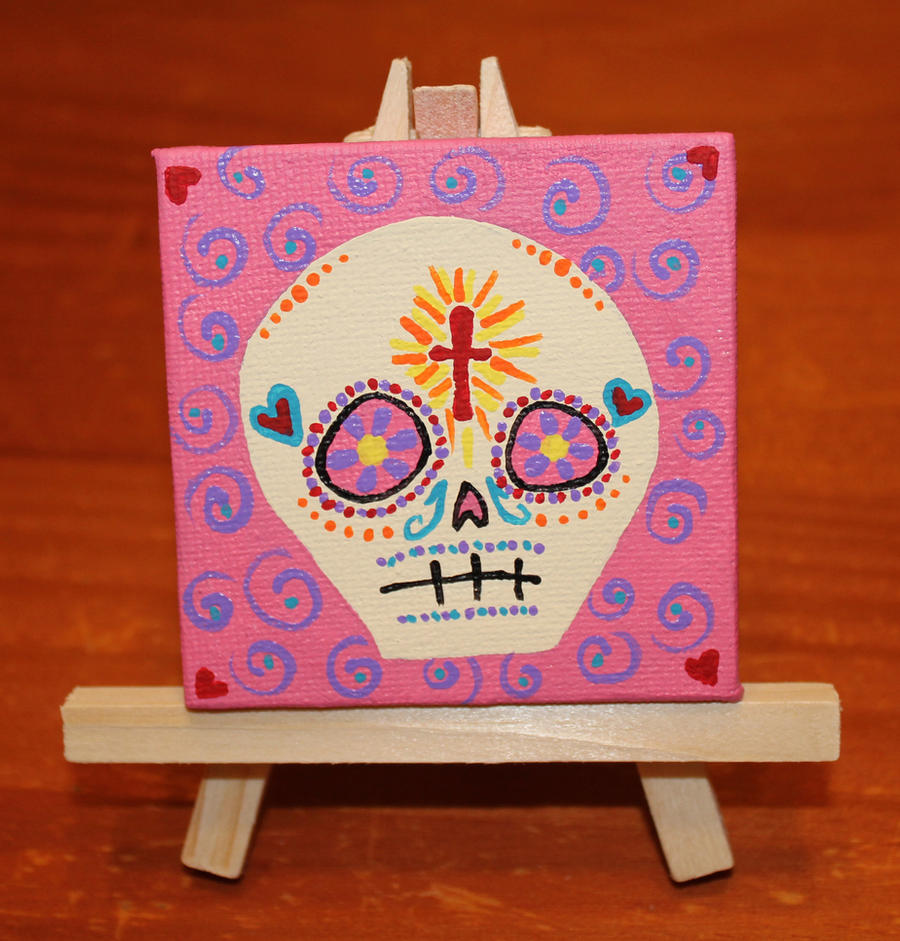 Small Skull on Small Canvas SOLD by angelacapel