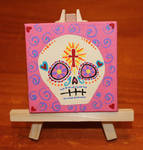 Small Skull on Small Canvas SOLD