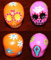 Sugar Skull 15 and 63 by angelacapel