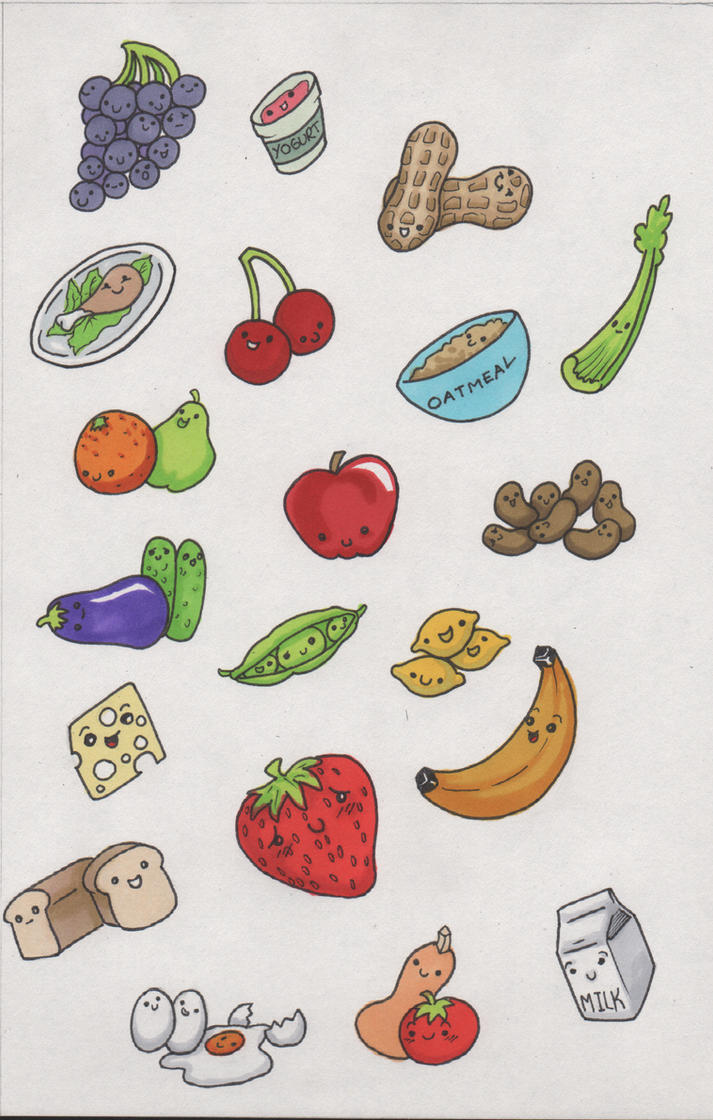 Food Sticker Pack by angelacapel