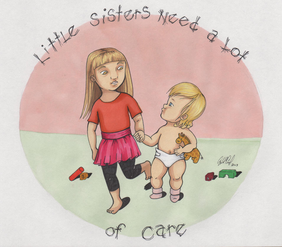 Little Sisters by angelacapel