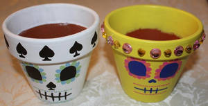 Small Painted Flower Pots