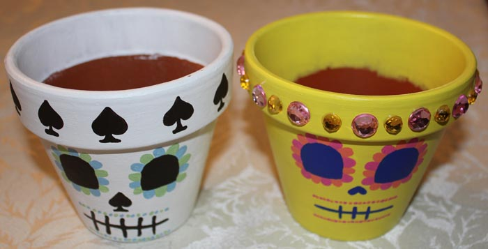 Small Painted Flower Pots by angelacapel