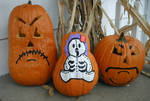 Three Creepy Pumpkins by angelacapel