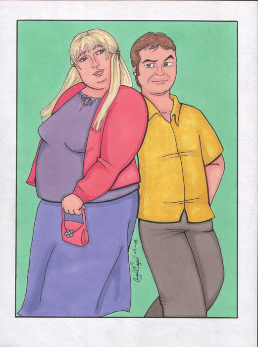 Shallow Hal: Rosemary and Hal by angelacapel