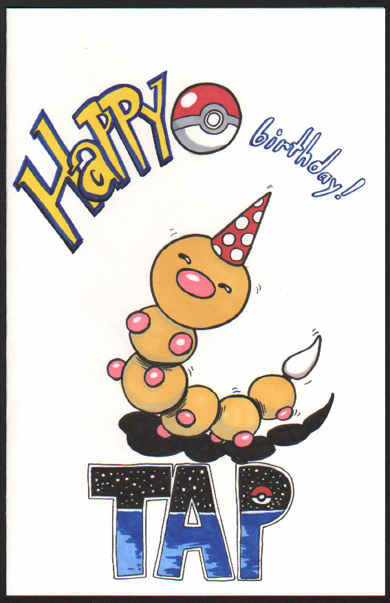 Patrick Birthday Card 2016 by angelacapel